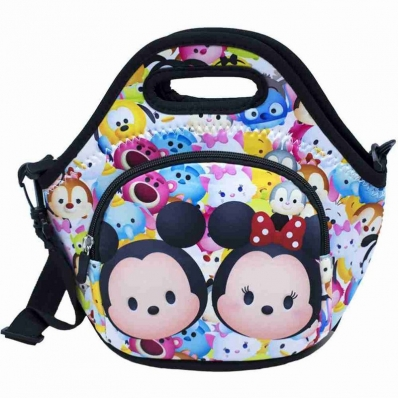 Bolsa Térmica Colorida Mickey Minnie Tsum tsum 25X28cm - Disney