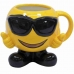 Caneca Porcelana Emoticon Óculos Escuros 400ml